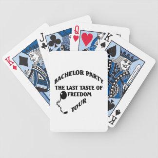 Despedida de solteiro - último gosto da excursão d baralhos de pôquer