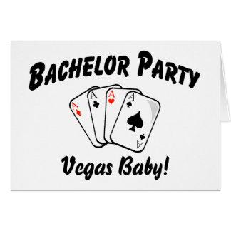 Despedida de solteiro Vegas Cartão Comemorativo