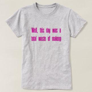 Desperdício da composição tshirt