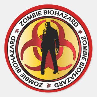 Desperdício do Biohazard do zombi Adesivo