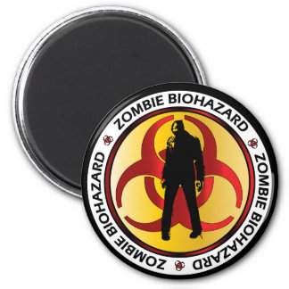 Desperdício do Biohazard do zombi Ímã Redondo 5.08cm
