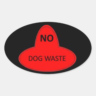 Desperdício do cão - NÃO Adesivo Oval