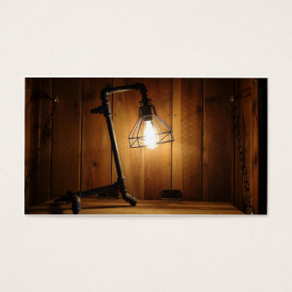 Desperdício não Upcrafts - loja da iluminação Cartão De Visitas
