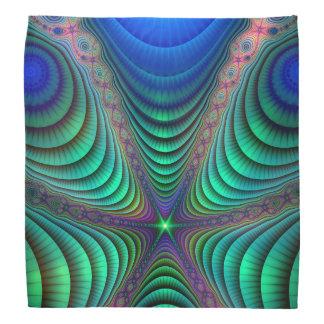 Despertando o verde azul da arte de Absract do Bandanas