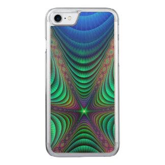 Despertando o verde azul da arte de Absract do Capa iPhone 7 Carved