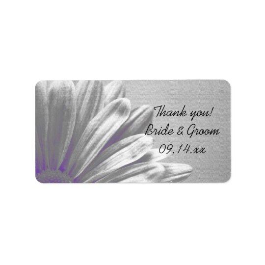 Destaques florais roxos que Wedding o obrigado que Etiqueta De Endereço