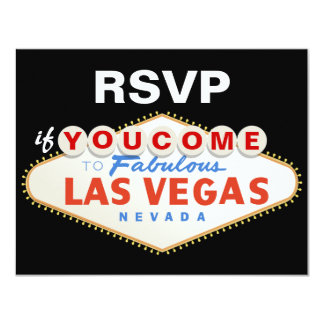 Destino do sinal de Las Vegas que wedding o cartão Convite Personalizado