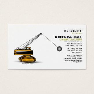 Destruindo o cartão de indústria da construção da