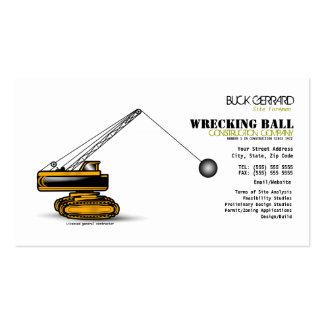 Destruindo o cartão de indústria da construção da  cartão de visita