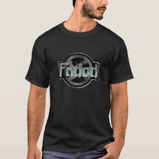 Desvanecido - preto camiseta