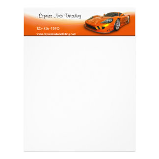 Detailer automotriz papel timbrado