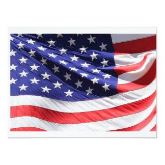 Detalhe de bandeira americana convite personalizados