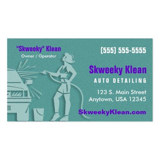 Detalhe do automóvel/lavagem de carros cartão de visita