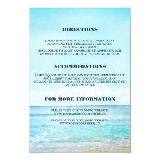 Detalhes azuis do casamento de praia - informação convite 8.89 x 12.7cm
