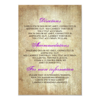 Detalhes de madeira rústicos do casamento - convite 8.89 x 12.7cm