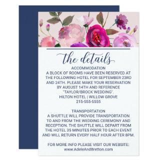 Detalhes românticos do casamento do jardim convite 8.89 x 12.7cm
