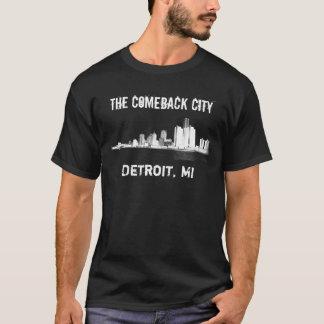 Detroit - a cidade do retorno t-shirt