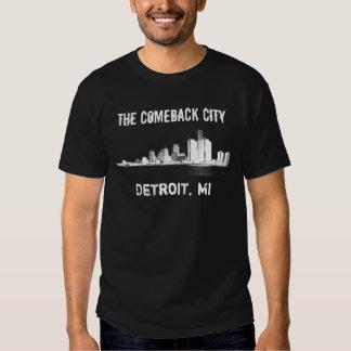 Detroit - a cidade do retorno tshirts