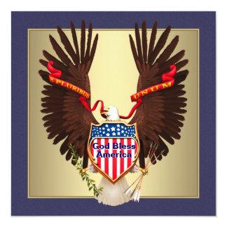 Deus abençoe América Eagle 4o de convites de julho
