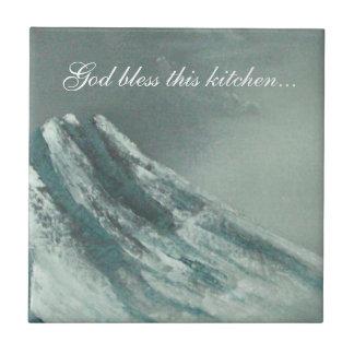"""Deus abençoe esta cozinha…"" azulejo do backsplash"