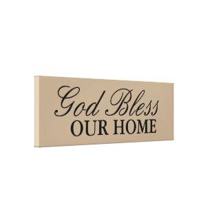 Deus abençoe nossa decoração Home da arte da Impressão Em Tela