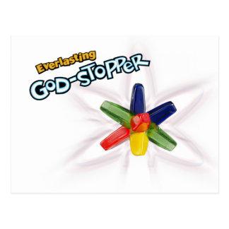 Deus-bujão eterno cartão postal