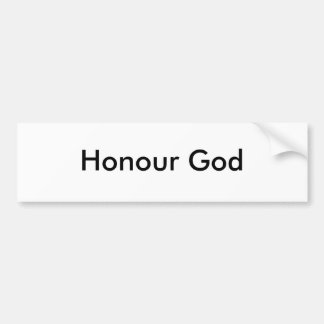 Deus da honra adesivo para carro