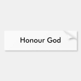 Deus da honra adesivos