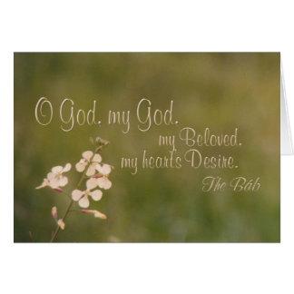 Deus de O meu deus - cartão das flores brancas