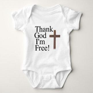 Deus do obrigado eu estou livre camiseta