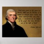 Deus e liberdade de Jefferson Posters