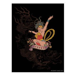 Deusa da mulher maravilha cartão postal