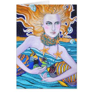 Deusa do cartão de aniversário do mar