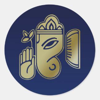 Deusa Ganesha do ouro - etiqueta