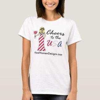 """Deusa patriótica do vinho """"elogios Promo aos EUA"""" Tshirt"""