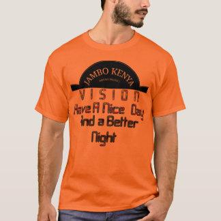 Dia agradável de Kenya da visão alaranjada básica Tshirts