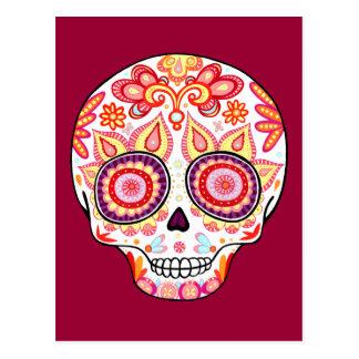 Dia bonito do crânio do açúcar do cartão inoperant cartões postais