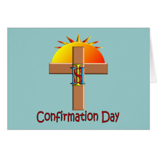 Dia católico da confirmação para miúdos cartão comemorativo