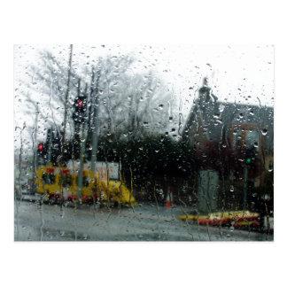 Dia chuvoso cartao postal
