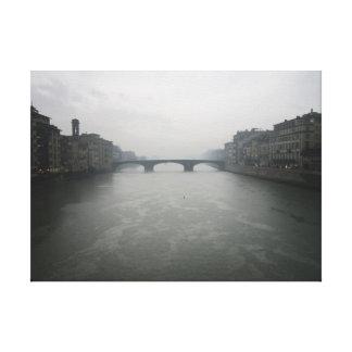 Dia chuvoso em Florença Impressão De Canvas Esticadas
