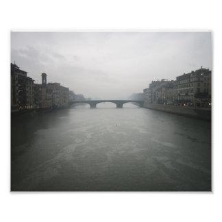 Dia chuvoso em Florença, Italia Impressão De Foto
