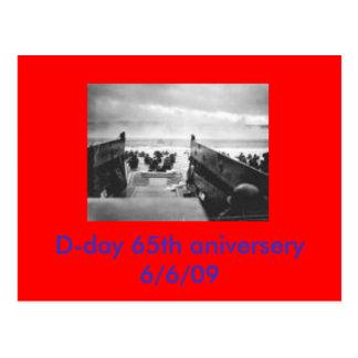 dia D, aniversery 6/6/09 do dia D 65th Cartão Postal