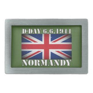 Dia D bandeira fivela de cinto BRITÂNICA do 6 de