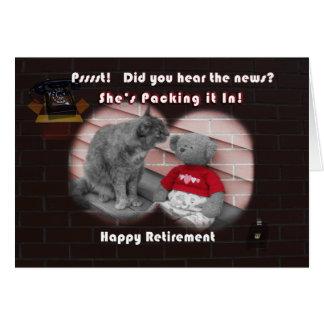Dia da aposentadoria cartão comemorativo
