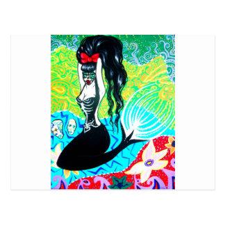 Dia da arte inoperante da sereia cartao postal