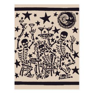 Dia da festa inoperante do diâmetro Muertos do Cartão Postal