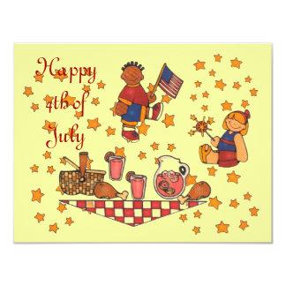 Dia da Independência 4o de partido Invitati do Convites