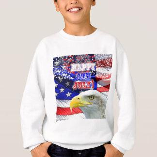 Dia da Independência com bandeira e Eagle Camiseta
