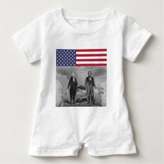 Dia da Independência George Washington Abraham Camisetas