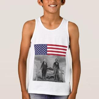 Dia da Independência George Washington Abraham Tshirt